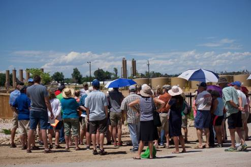 """Tour de Frack"" experiential tour of oil and gas sites in Greeley (2015)"